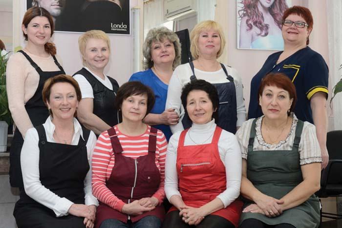 Дружный коллектив парикмахеров «Эффекта»