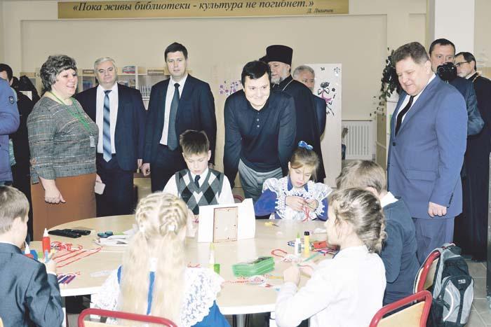 В библиотеке нового корпуса Выездновской школы уже идут занятия