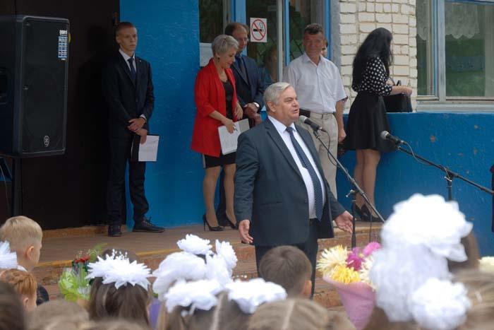 Открытие нового учебного года в Сельхозтехнике. Поздравление главы местного самоуправления района В.П. Миенкова