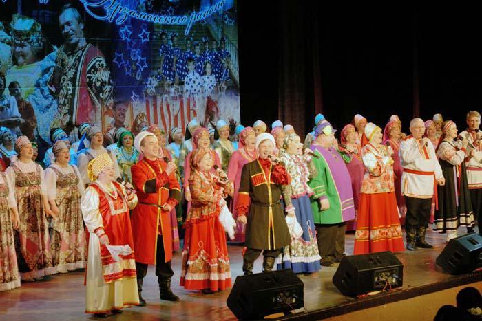 Выступление сводного хора Арзамасского района