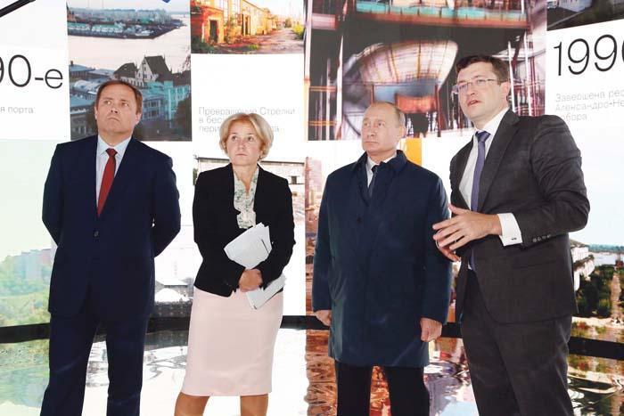 Глеб Никитин представил Владимиру Путину концепцию создания на Стрелке культурно-образовательного центра
