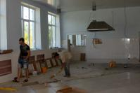 Ремонт пищеблока в Большетумановской школе близится к завершению