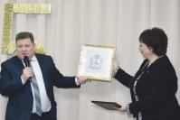 Глава администрации Арзамасского района В.И. Демин благодарит коллектив, который возглавляет Т.В. Пимкина, за умение решать задачи любой сложности