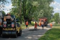 Ямочный ремонт дороги в селе Коваксе