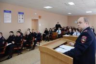 С докладом выступает заместитель начальника полиции по ОП ОМВД А.В. Лупашин