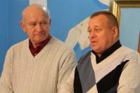 Председатель районного совета ветеранов А.А. Гришин и начальник госветуправления Арзамасского района В.И. Лопарев приветствуют ветеранов